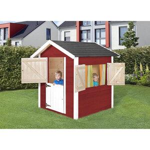 "Kinderspielhaus ""Tabaluga 818"" inkl. Fensterläden, rot/weiß"