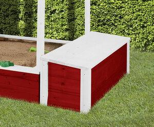 """Truhe """"Tabaluga"""" mit Deckel für Kinderspielhaus 818, rot/weiß"""
