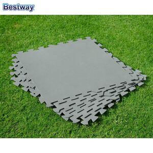 Bestway #58639 Bodenschutzplatten für Aufstellpools 50x50cm 9er-Set Grau