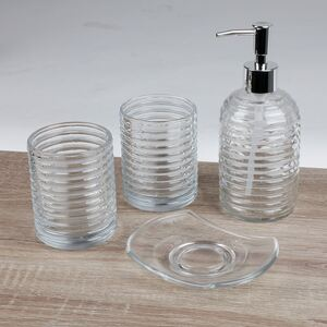 Badezimmer-Set aus Glas 4-teilig