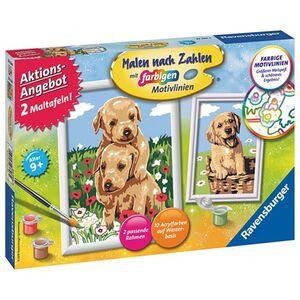 Ravensburger Malen nach Zahlen, 2er Set - Hunde