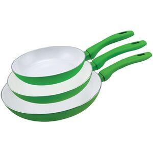 Keramik Pfannen 3er-Set, versch. Farben - grün