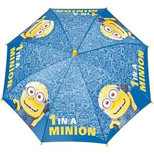 Kinder Regenschirm Minions blau