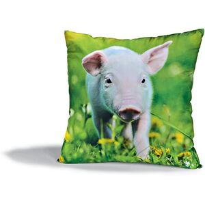 Dekor Dekokissen mit Tiermotiven - Schweinchen