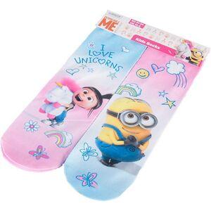 Kinder 3D Socken, 2er Minions, Größe 27/30