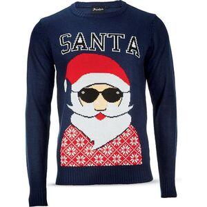 Herren Christmas Sweater - navy, Gr. XXL