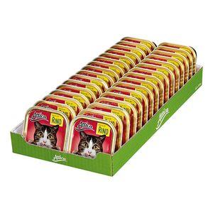 Attica Katzenfutter Pastete mit Rind 100 g, 32er Pack