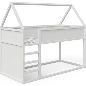 VitaliSpa Haus Pinocchio Hochbett Spielbett Kinderbett Jugendbett 90 x 200 cm Weiß