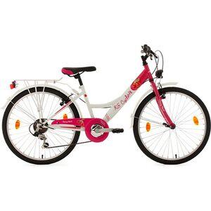 KS Cycling Kinderfahrrad 6 Gänge Mädchenfahrrad Cherry Heart 24 Zoll
