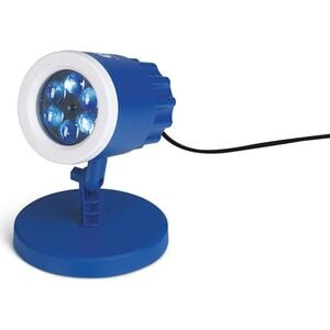 S04 LED-Motivstrahler 7,5W blau/weiß mit Logo