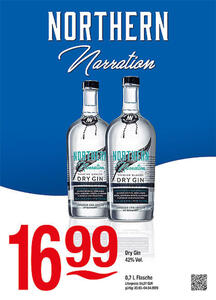 Northern Narration Dry Gin 42% Vol.