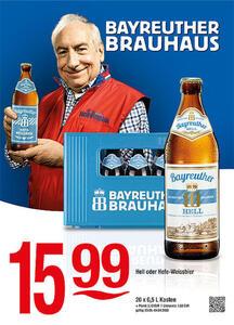 Bayreuther Hell oder Hefe-Weissbier