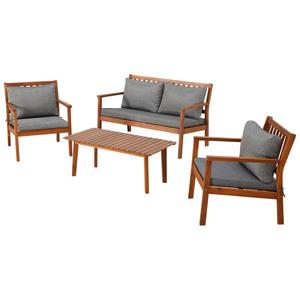 Garten-Sofa-Set MADAGASKAR (1 Tisch, 1 Sofa, 2 Sessel)