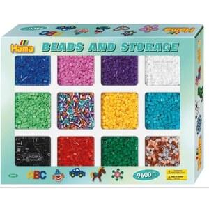 HAMA - Bügelperlen: Sortierbox mit Perlen, 9600 Perlen