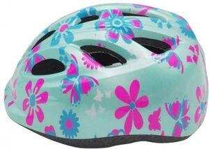 Kinder Fahrradhelm - Blumen - blau