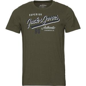 Jack&Jones Originals T-Shirt, Logo-Print, Rundhalsausschnitt, Baumwolle, für Herren