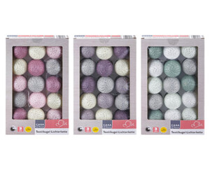 CASA Deco Textilkugel-Lichterkette