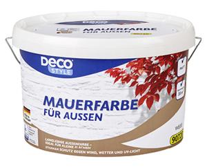 DECO STYLE®  Mauerfarbe, Weiß, 5 l