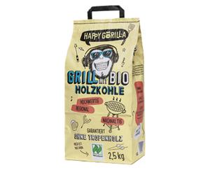 HAPPY GORILLA®  Bio Holzkohle oder Bio Holzkohlebriketts