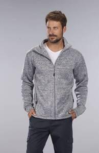 Jacke mit Reißverschluss, Farbe grau/melange