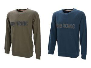 Gin Tonic Sweatshirt Herren, mit Rundhalsausschnitt, im Vintage-Look, softe Innenseite