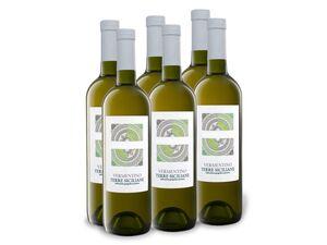 6 x 0,75-l-Flasche Vermentino Terre Siciliane IGP trocken, Weißwein