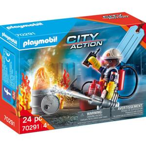 PLAYMOBIL 70291 Geschenkset Feuerwehr