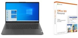 """IdeaPad 5 15IIL05 (81YK0005GE) 39,62 cm (15,6"""") Notebook graphite grey inkl. Office 365 Personal"""