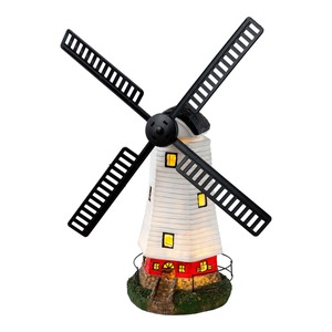 Solar-Windmühle in realistischer Optik, ca. 42x19x50cm
