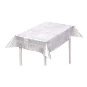 Wachstuchtischdecke mit strapazierfähiger PVC-Beschichtung, ca. 100x140cm