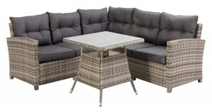 TrendLine Dining-Lounge Möbelset Pisa inkl. Auflagen