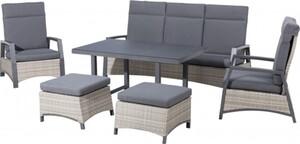 Primaster Dining-Lounge-Set Monaco inkl. Sitzauflagen