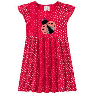 Mädchen Kleid mit Wendepailletten