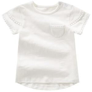Baby T-Shirt mit Spitzenbordüre