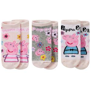 3 Paar Peppa Pig Sneaker-Socken im Set