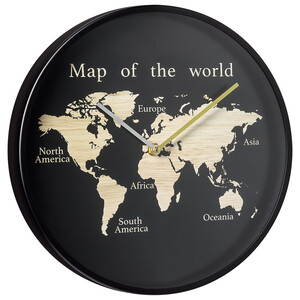 Wanduhr mit Weltkarte