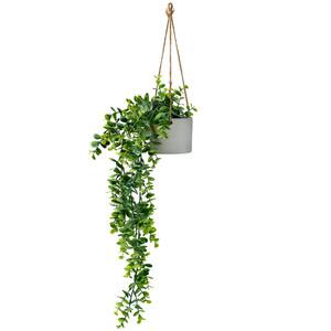 Blumenampel mit Kunstpflanze