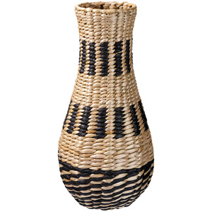 Deko-Vase aus Grasgeflecht