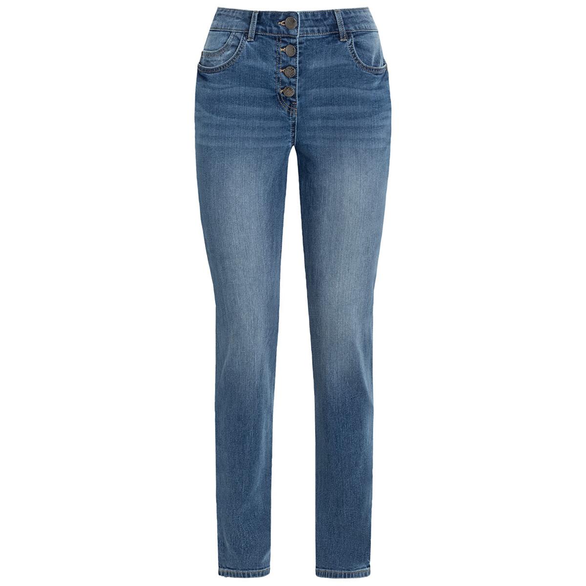 Bild 1 von Damen Slim-Jeans mit Knopfleiste