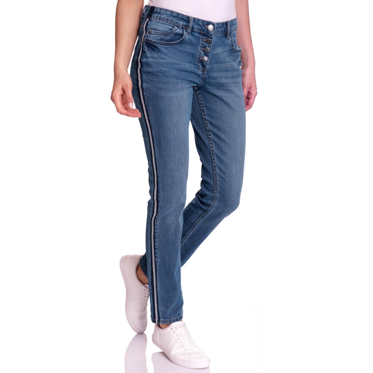Bild 2 von Damen Slim-Jeans mit Knopfleiste