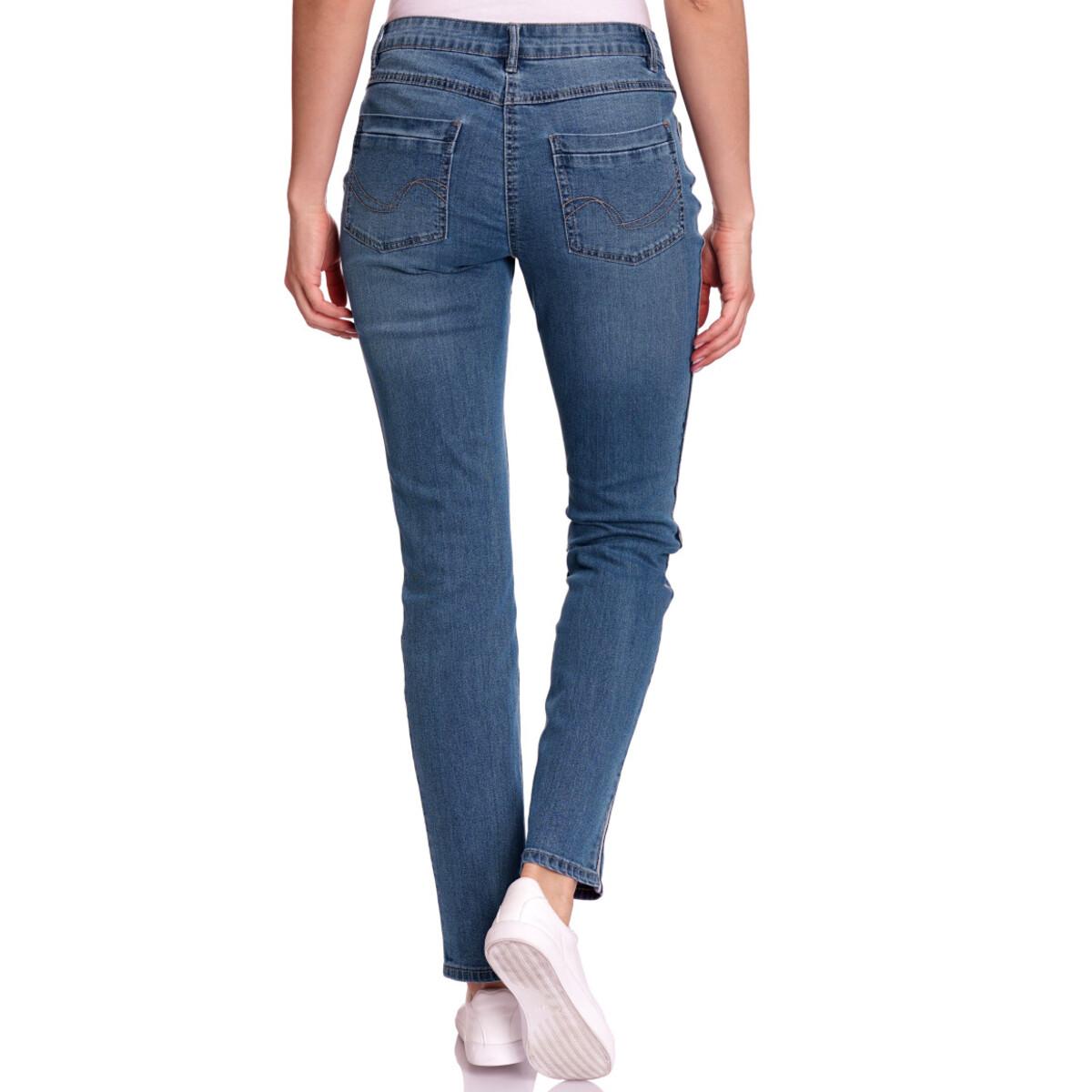 Bild 3 von Damen Slim-Jeans mit Knopfleiste
