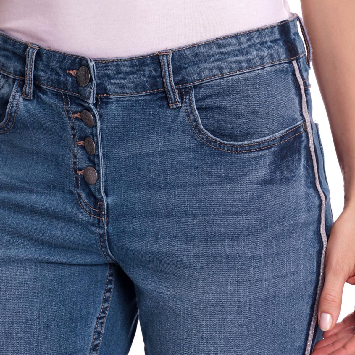 Bild 4 von Damen Slim-Jeans mit Knopfleiste