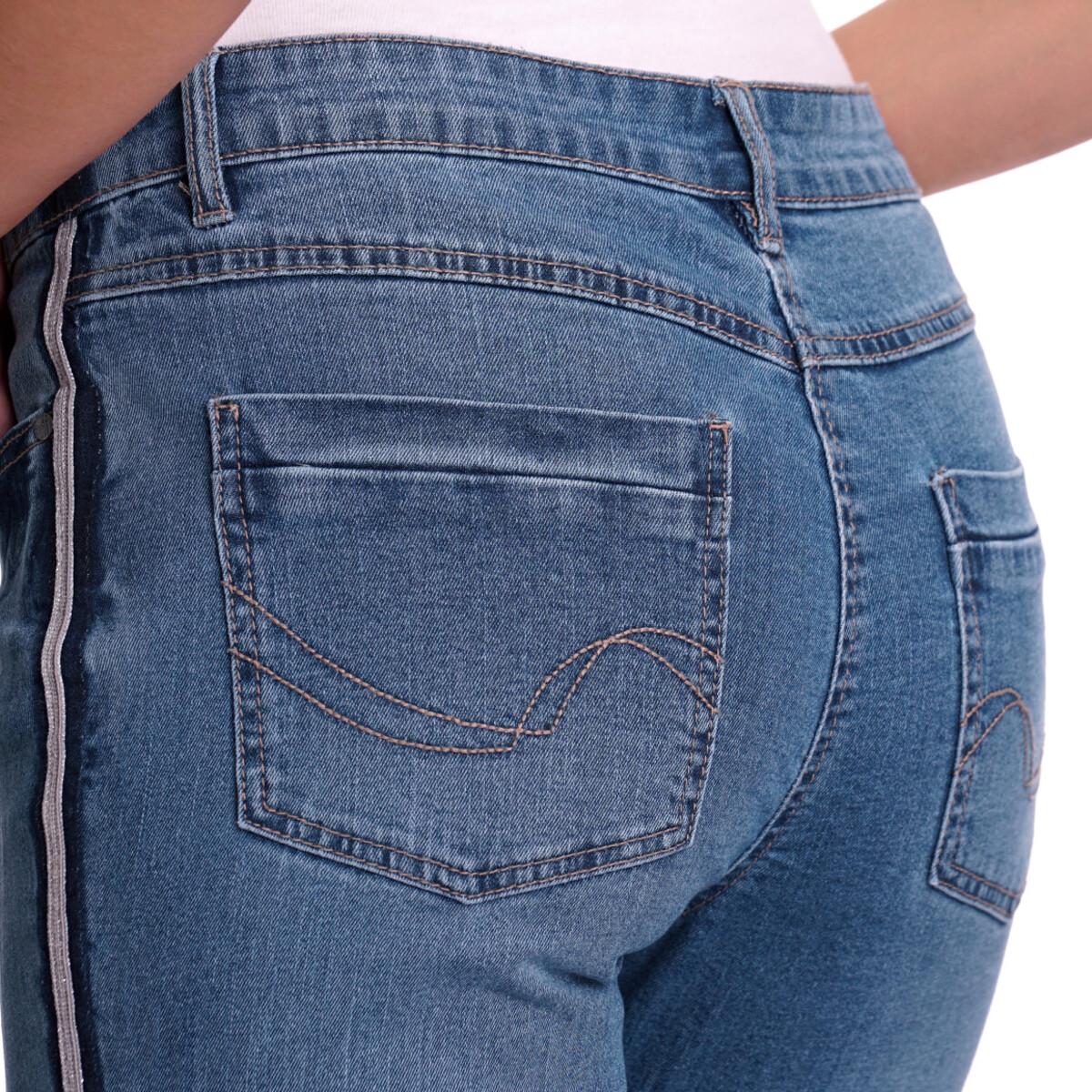 Bild 5 von Damen Slim-Jeans mit Knopfleiste