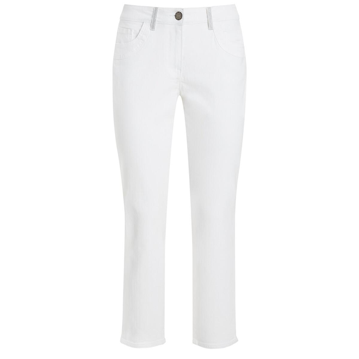 Bild 1 von 7/8 Damen Slim-Jeans mit Glitzerdetails