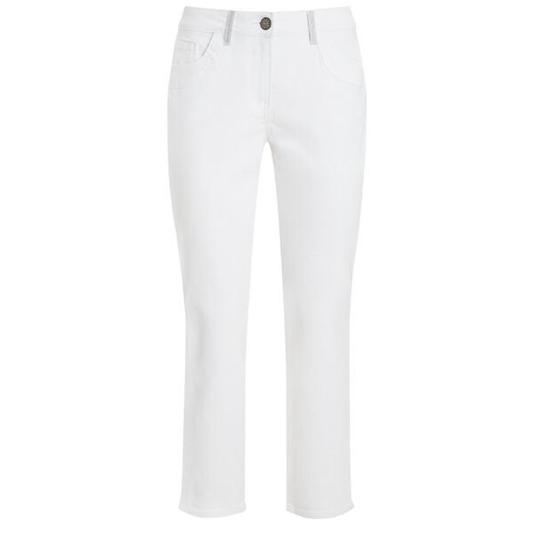 7/8 Damen Slim-Jeans mit Glitzerdetails