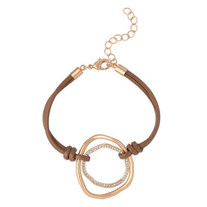 Damen Armband mit Metallringen