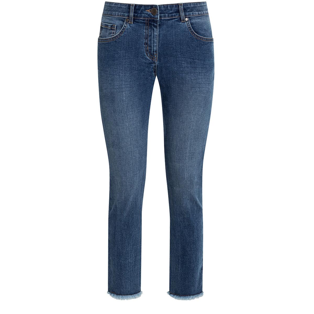 Bild 1 von 7/8 Damen Straight-Jeans mit Fransen