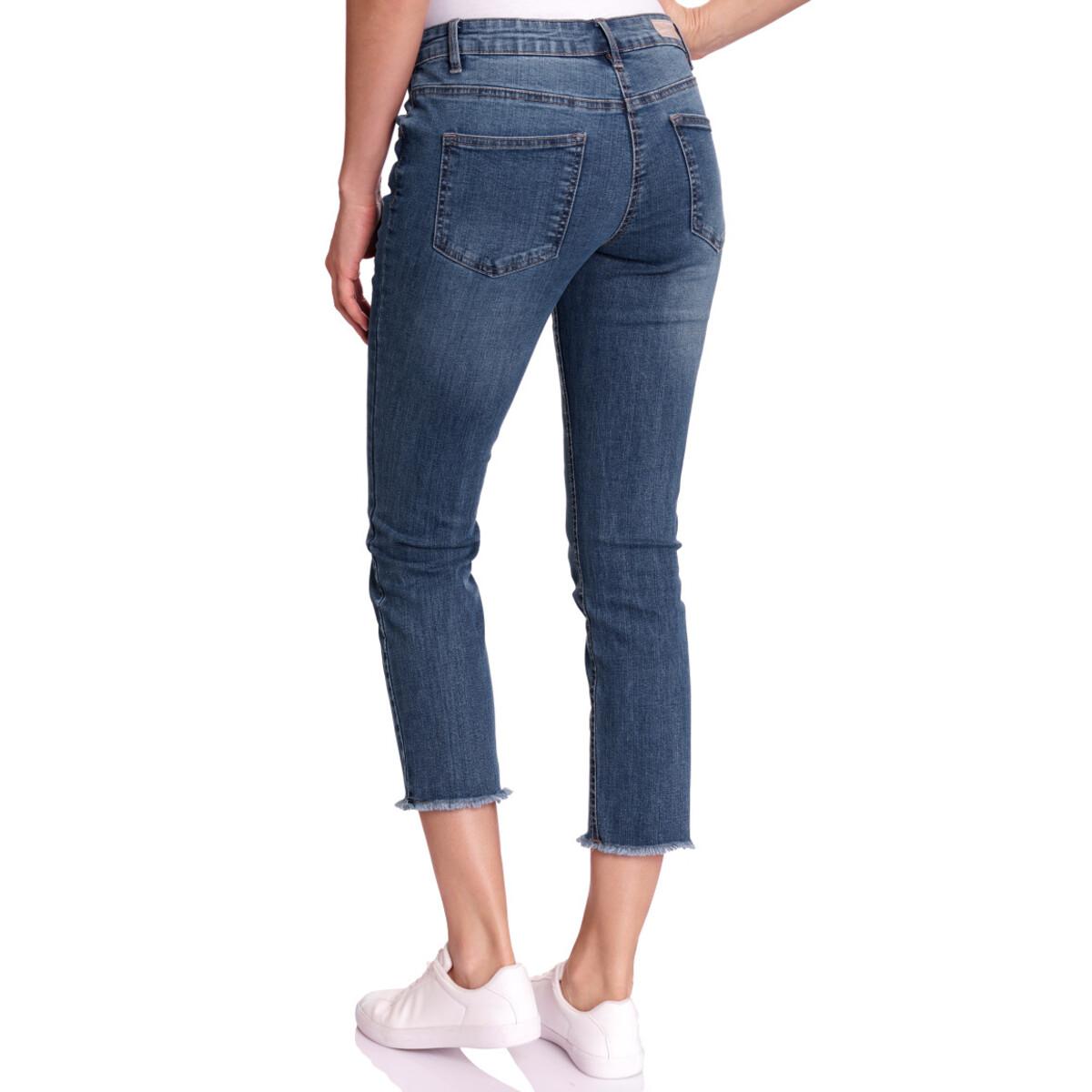 Bild 3 von 7/8 Damen Straight-Jeans mit Fransen