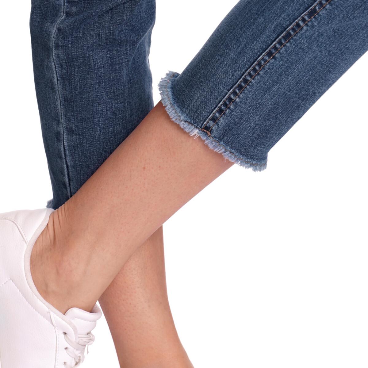 Bild 4 von 7/8 Damen Straight-Jeans mit Fransen