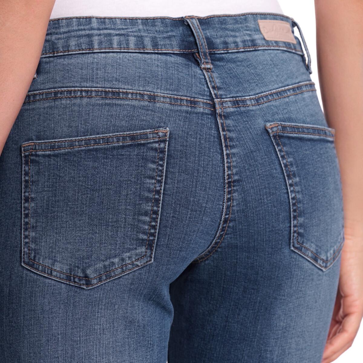 Bild 5 von 7/8 Damen Straight-Jeans mit Fransen